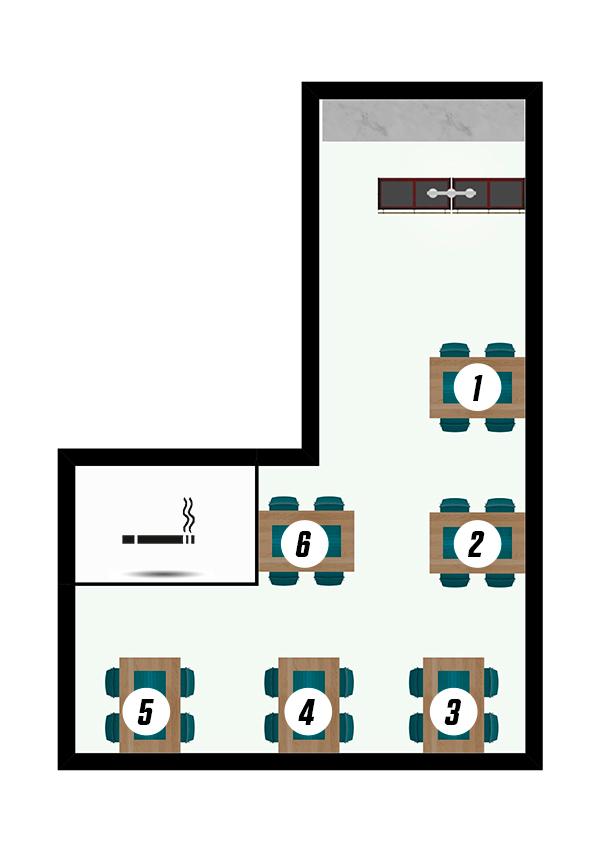 Gastraum - Reservierung