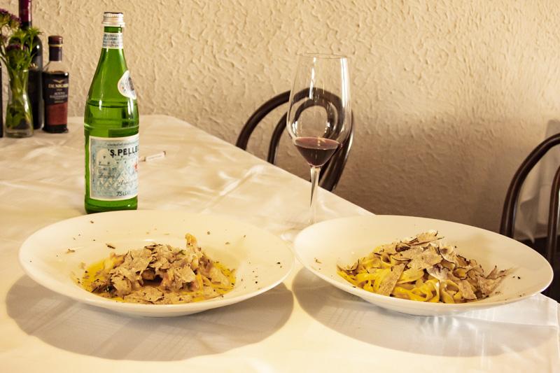 Pasta und Trüffel
